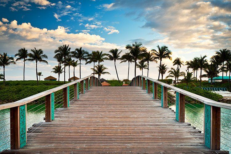 Beach Bridge To Paradise Nassau Bahamas Fine Art Print