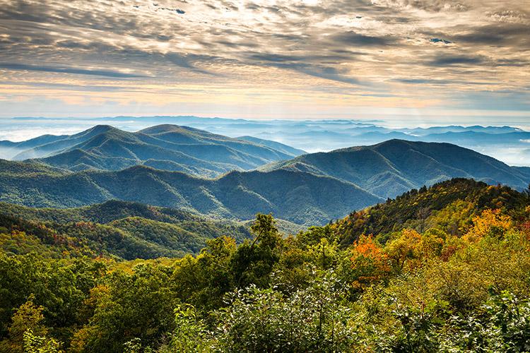 North Carolina Blue Ridge Parkway Autumn Landscape Photography Asheville Nc