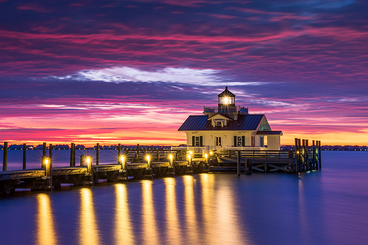 Outer Banks NC Manteo Lighthouse Landscape