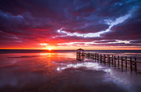 sunset from Duck NC seascape photography