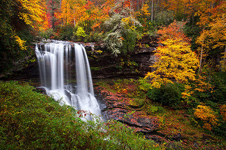 WNC Autumn Waterfalls Landscape Photography