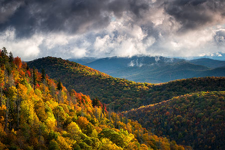 Blue Ridge Mountains Autumn Morning Photography