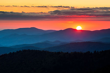 Clingmans Dome Scenic Sunset Landscape Photo