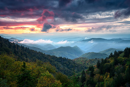 Cherokee NC Sunset Mountains Scenic Photography