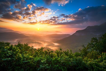 Highlands NC Sunrise Landscape Photography