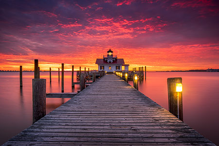 Manteo Lighthouse Outer Banks NC