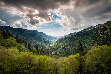 Gatlingburg TN Spring Landscape Smoky Mountains