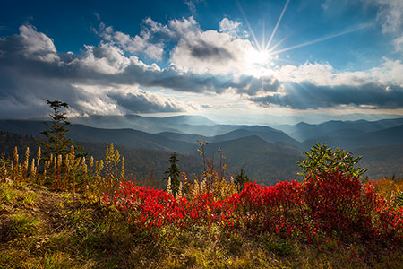 Blue Ridge Parkway Autumn Landscape Photography