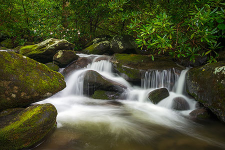 Gatlinburg Roaring Fork Waterfall Landscape Photo