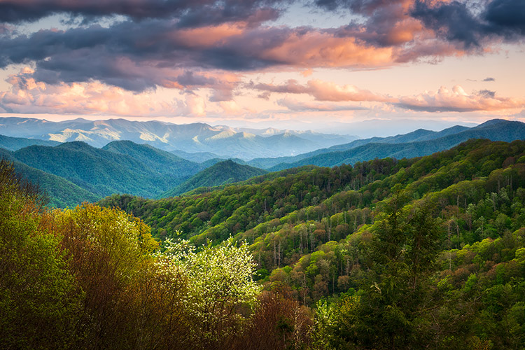 Cherokee NC Great Smoky Mountains Scenic Landscape