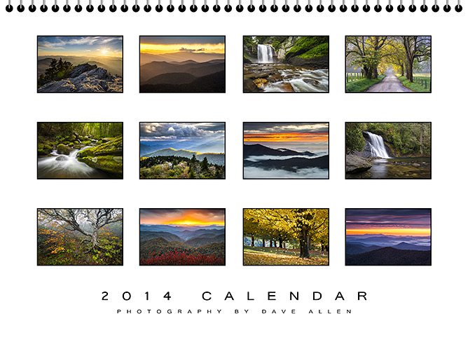 2013 Blue Ridge Mountains Calendar